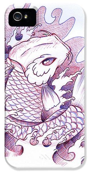 Koi iPhone 5s Case - Koi Carp Tattoo Art by Samuel Whitton