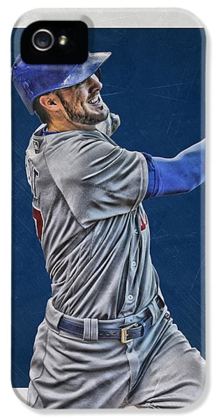 Kris Bryant Chicago Cubs Art 3 IPhone 5s Case by Joe Hamilton