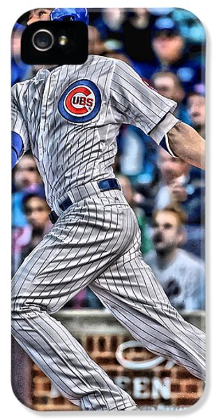 Professional Baseball Teams iPhone 5s Case - Kris Bryant Chicago Cubs by Joe Hamilton