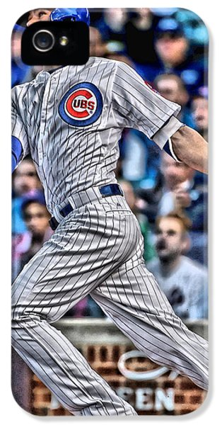 Kris Bryant Chicago Cubs IPhone 5s Case by Joe Hamilton