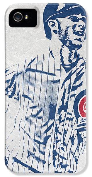 Chicago Cubs iPhone 5s Case - kris bryant CHICAGO CUBS PIXEL ART 2 by Joe Hamilton