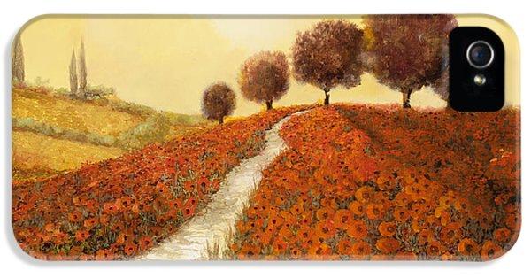 Landscape iPhone 5s Case - La Collina Dei Papaveri by Guido Borelli