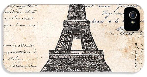 La Tour Eiffel IPhone 5s Case by Debbie DeWitt