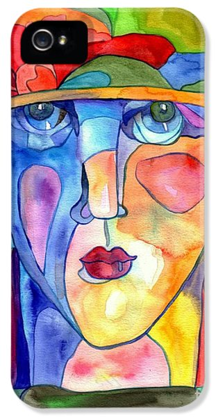 Doctor iPhone 5s Case - Lady In Hat Watercolor by Suzann's Art