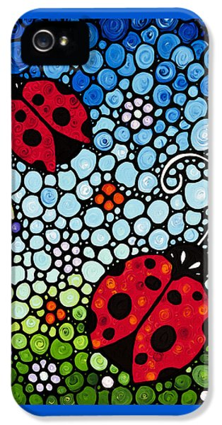 Ladybug Art - Joyous Ladies 2 - Sharon Cummings IPhone 5s Case by Sharon Cummings