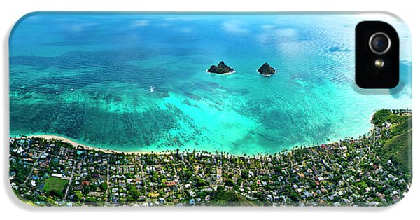 Helicopter iPhone 5s Case - Lanikai Over View by Sean Davey