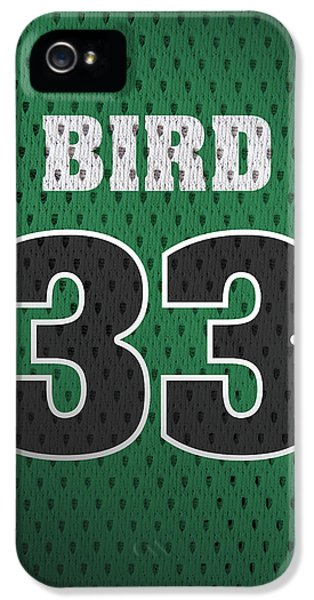 Larry Bird Boston Celtics Retro Vintage Jersey Closeup Graphic Design IPhone 5s Case by Design Turnpike