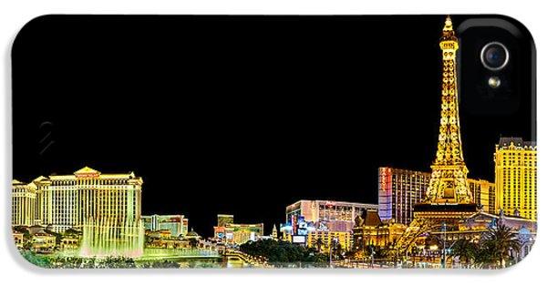 Las Vegas At Night IPhone 5s Case by Az Jackson