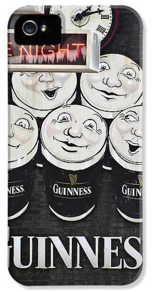 Beer iPhone 5s Case - Late Night Guinness Limerick Ireland by Teresa Mucha