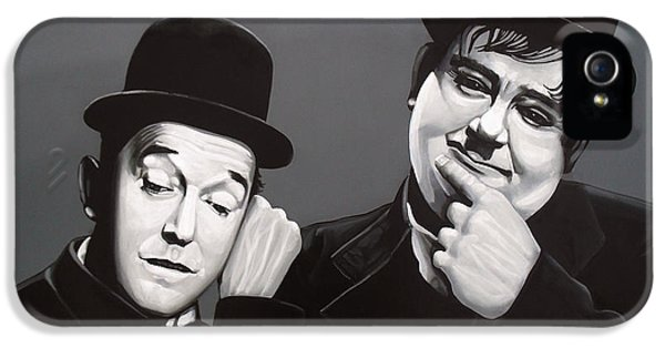 Laurel And Hardy IPhone 5s Case by Paul Meijering