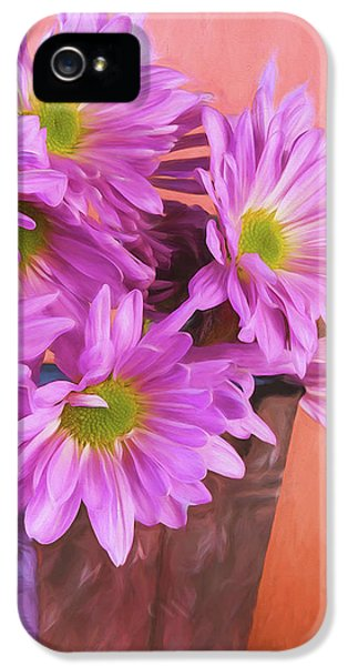 Daisy iPhone 5s Case - Lavender Daisies by Tom Mc Nemar