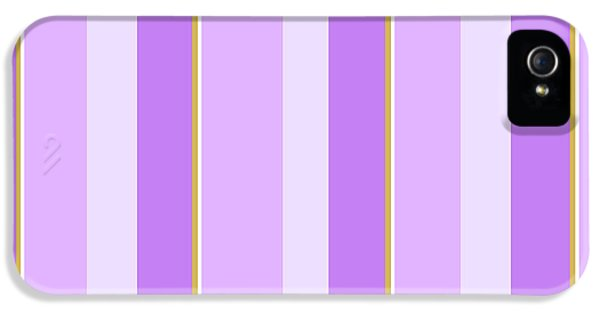 IPhone 5s Case featuring the mixed media Lavender Stripe Pattern by Christina Rollo