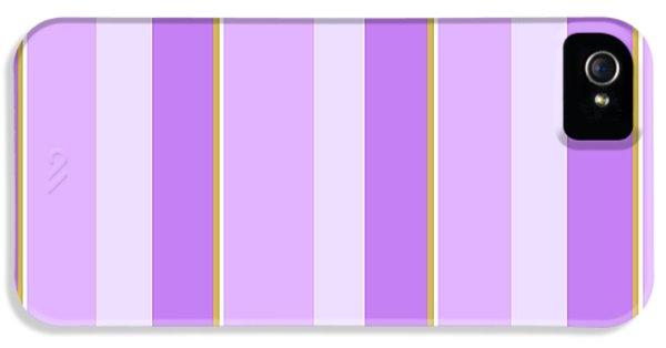 Lavender Stripe Pattern IPhone 5s Case by Christina Rollo