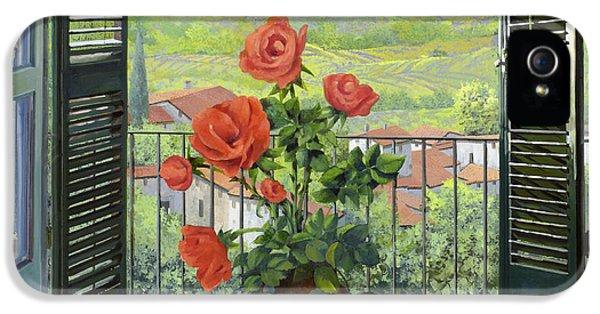 Rose iPhone 5s Case - Le Persiane Sulla Valle by Guido Borelli