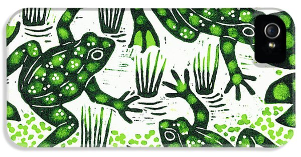 Leaping Frogs IPhone 5s Case by Nat Morley