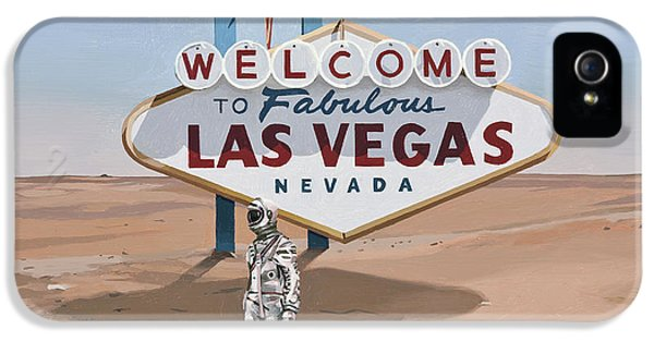 IPhone 5s Case featuring the painting Leaving Las Vegas by Scott Listfield