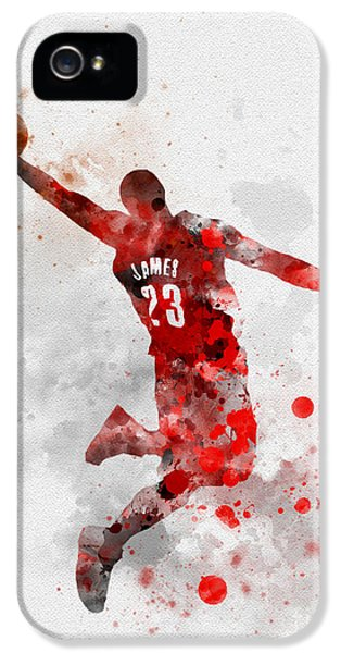 Lebron James IPhone 5s Case by Rebecca Jenkins
