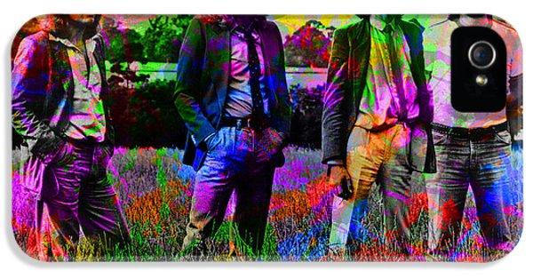 Led Zeppelin Band Portrait Paint Splatters Pop Art IPhone 5s Case by Design Turnpike