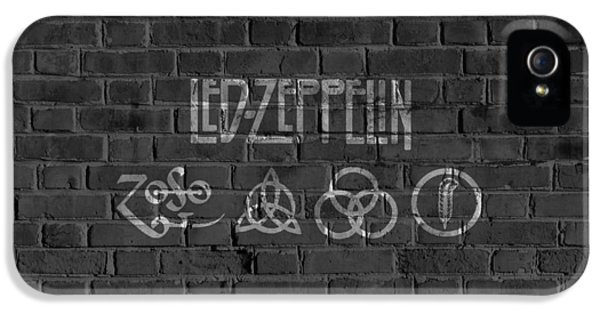 Led Zeppelin Brick Wall IPhone 5s Case by Dan Sproul