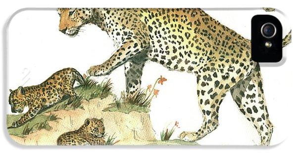 Leopard iPhone 5s Case - Leopard Family by Juan Bosco
