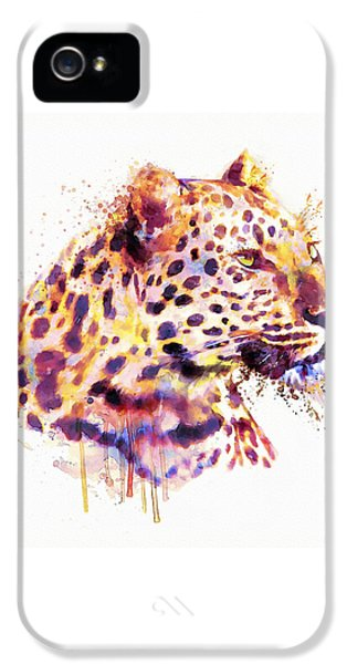 Leopard Head IPhone 5s Case by Marian Voicu