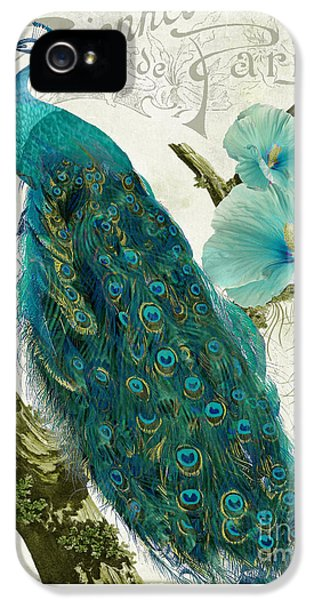 Peacock iPhone 5s Case - Les Paons by Mindy Sommers