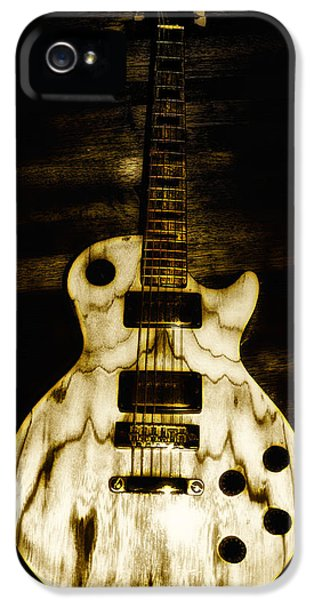 Music iPhone 5s Case - Les Paul Guitar by Bill Cannon