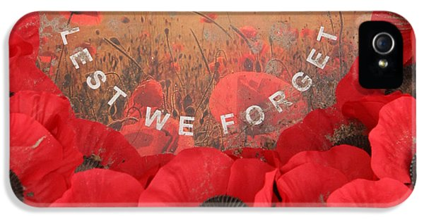 Lest We Forget - 1914-1918 IPhone 5s Case by Travel Pics