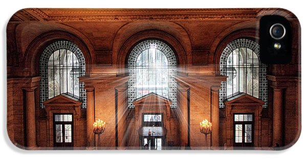 IPhone 5s Case featuring the photograph Library Entrance by Jessica Jenney