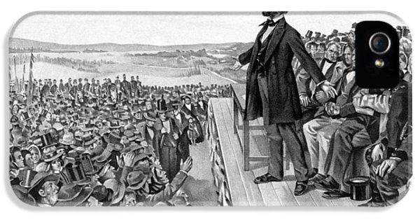 Lincoln Delivering The Gettysburg Address IPhone 5s Case by War Is Hell Store