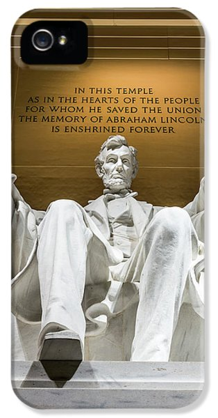 Lincoln Memorial iPhone 5s Case - Lincoln Memorial 2 by Larry Marshall
