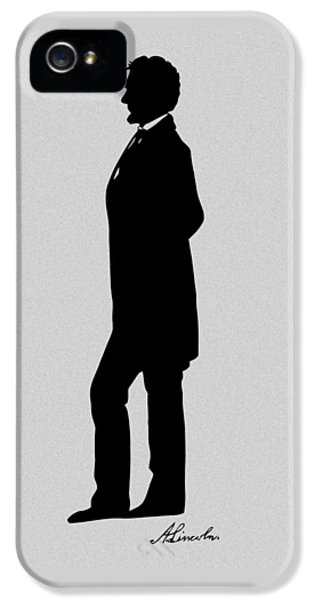 Lincoln Silhouette And Signature IPhone 5s Case by War Is Hell Store