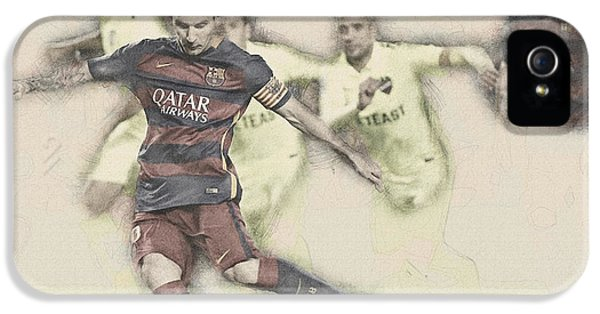Wayne Rooney iPhone 5s Case - Lionel Messi Scores A Penalty Kick Against Levante  by Don Kuing