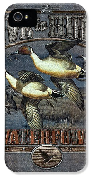 Duck iPhone 5s Case - Live To Hunt Pintails by JQ Licensing