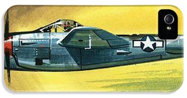 Airplane iPhone 5s Case - Lockheed P-38j Lightning by Wilf Hardy