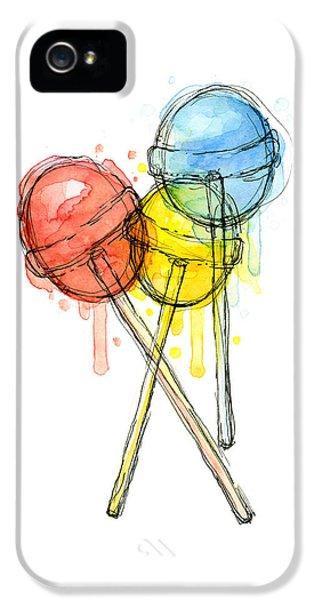 Lollipop Candy Watercolor IPhone 5s Case