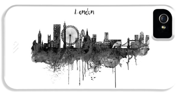 London Black And White Skyline Watercolor IPhone 5s Case