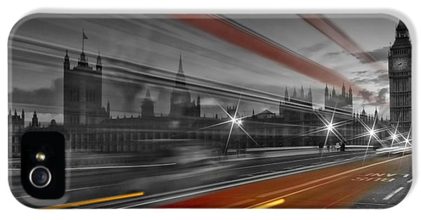 London Red Bus IPhone 5s Case by Melanie Viola