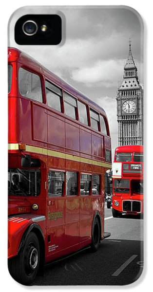 London Red Buses On Westminster Bridge IPhone 5s Case