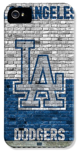 Los Angeles Dodgers iPhone 5s Case - Los Angeles Dodgers Brick Wall by Joe Hamilton