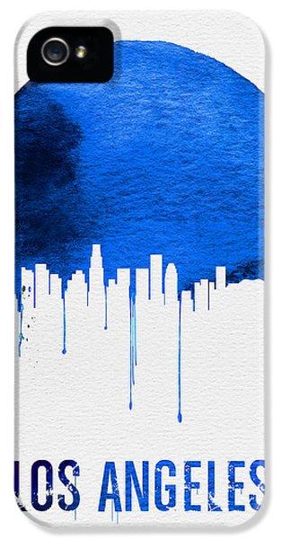 Los Angeles Skyline Blue IPhone 5s Case by Naxart Studio
