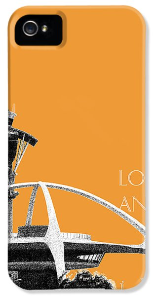 Los Angeles Skyline Lax Spider - Orange IPhone 5s Case by DB Artist