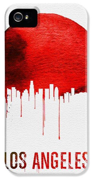 Los Angeles Skyline Red IPhone 5s Case by Naxart Studio