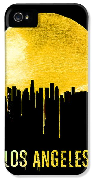 Los Angeles Skyline Yellow IPhone 5s Case by Naxart Studio