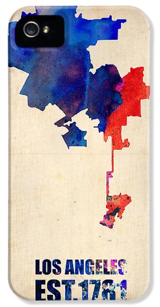 Los Angeles Watercolor Map 1 IPhone 5s Case by Naxart Studio
