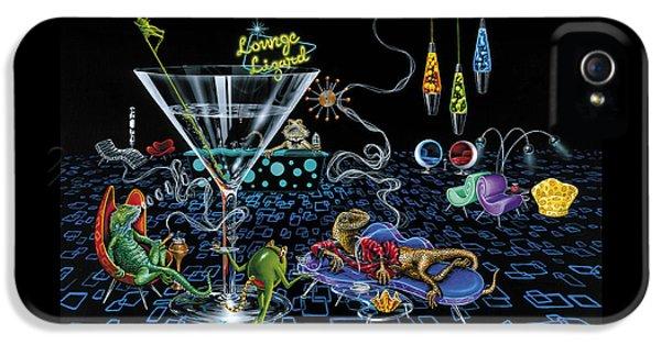 Lounge Lizard IPhone 5s Case by Michael Godard