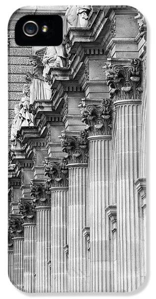 IPhone 5s Case featuring the photograph Louvre Pillars, Paris, 2015 by Hitendra SINKAR