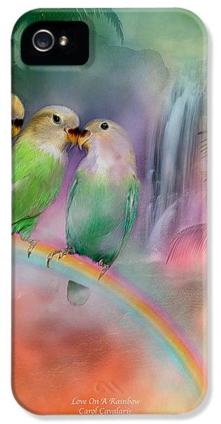 Love On A Rainbow IPhone 5s Case by Carol Cavalaris