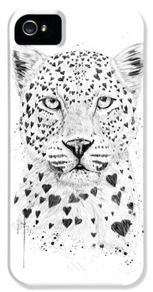 Leopard iPhone 5s Case - Lovely Leopard by Balazs Solti