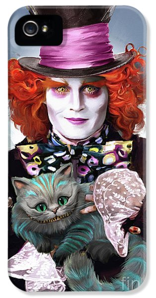 Mad Hatter And Cheshire Cat IPhone 5s Case by Melanie D